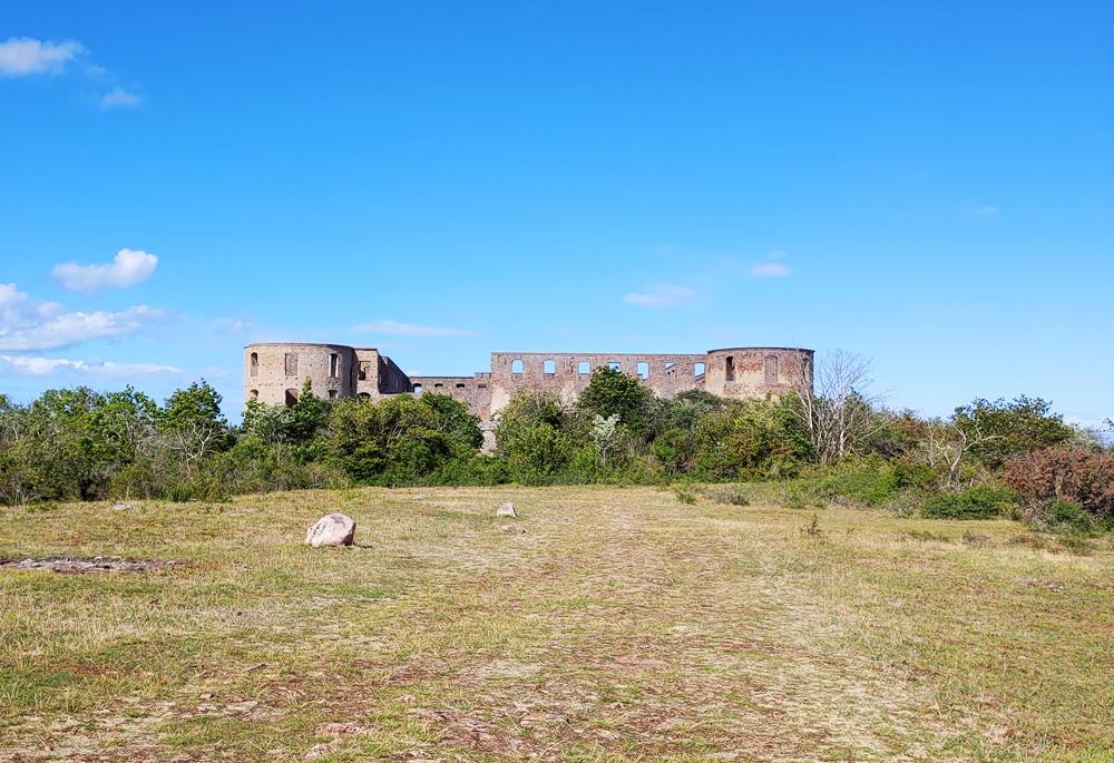 Foto över Borgholms slott på Öland