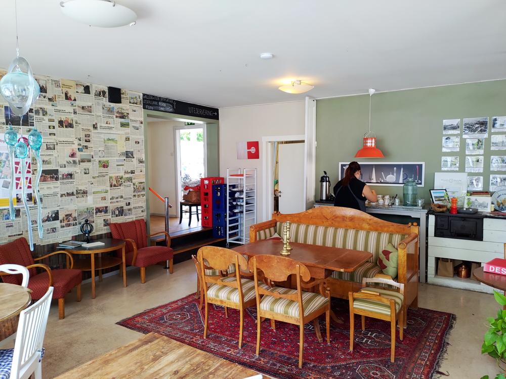 Foto av inredningen hos Ölands Söderbönor Café i Mörbylånga på Öland
