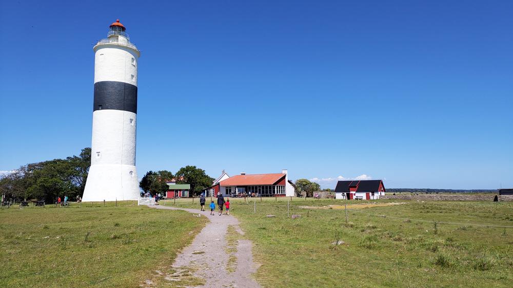 Foto av fyren Långe Jan och Ölands södra udde